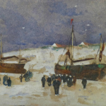 Dutch Barge Ashore