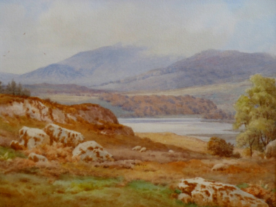 Sheep in an Autumn Landscape