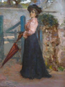 Edinburgh Lady with Red Parasol