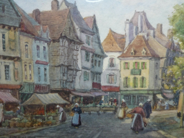 watercolour dutch market