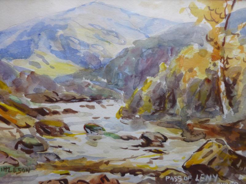 watercolours pass of leny