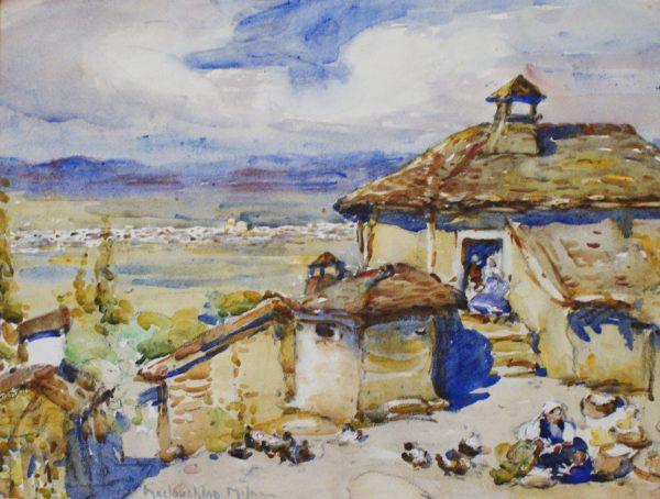 MACLAUGHLAN MILNE- French Farmyard