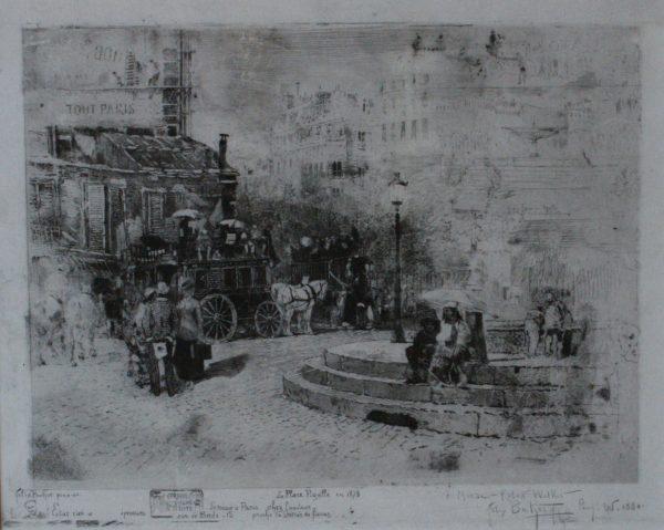 Felix Buhot parisian street