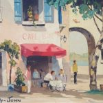 """Cafe Bar"" original oil painting by Cecil Rochfort D'Oyly John"