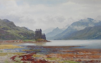 Eilean Donan Castle by artist Captain George Drummond Fish