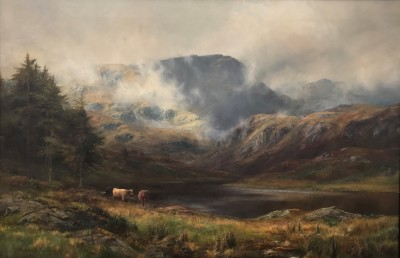 Impressive Large Scottish Landscape Oil Painting By